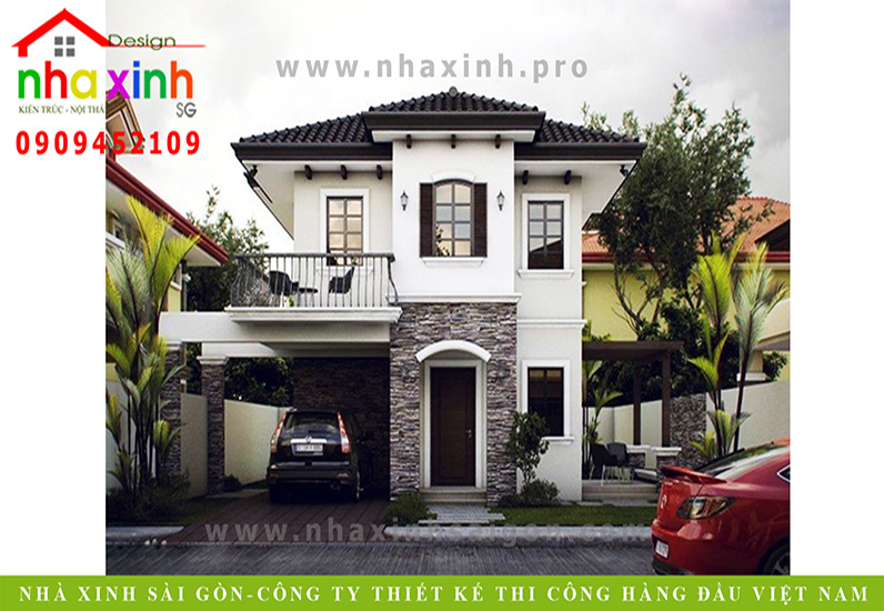 Biệt Thự Tân Cổ Điển 2 Tầng Mái Ngói Chị Thanh Hằng | BT-111