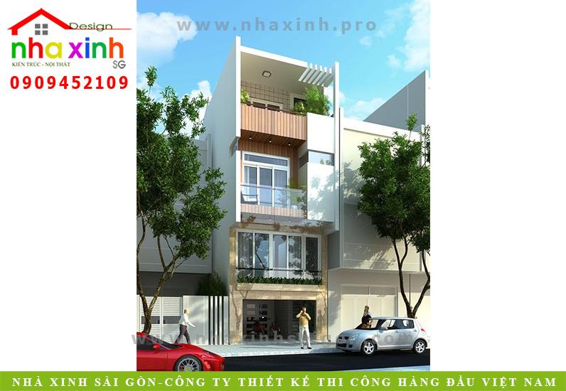 Nhà Phố Đẹp 4 Tầng   Anh Chị Kiên   NP-171