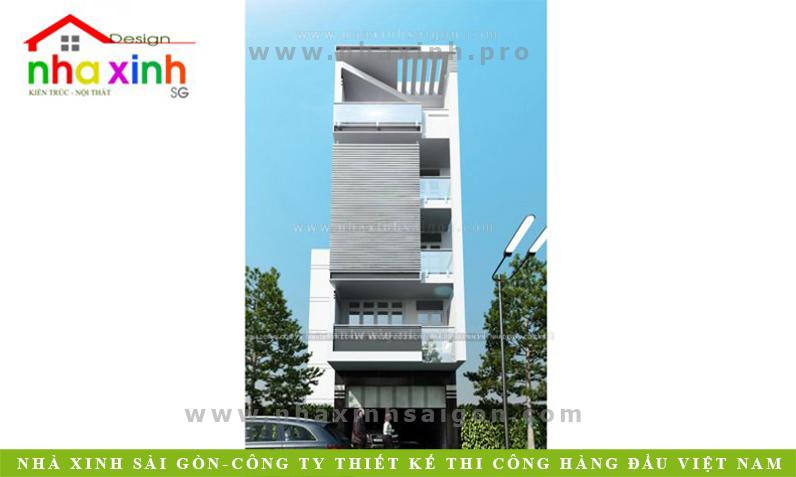 Kiến Trúc Nhà Phố 6 Tầng Độc Đáo | NP-195