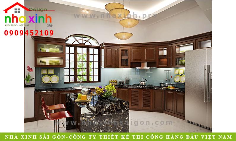Thiết Kế Nội Thất Phòng Bếp Biệt Thự Phố | NT-180
