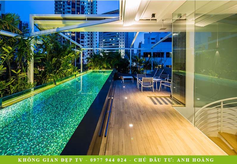 Biệt Thự Phố Có Hồ Bơi Sân Thượng | BT-154